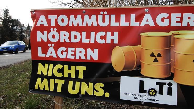 Der Verein LoTi protestiert gegen den Bau eines geologischen Tiefenlagers im Gebiet Nördlich Lägern. Archiv/Angelo Zambelli