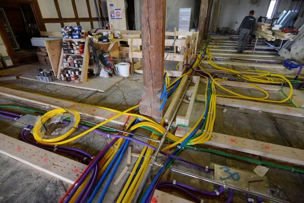 Sämtliche technische Infrastruktur wird in die Böden verlegt.