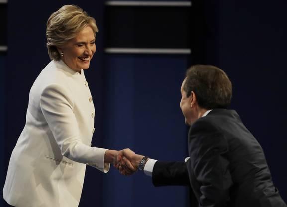 Hillary Clinton und Donald Trump lieferten sich in Las Vegas ein engagiertes und teilweise hartes Wortgefecht.
