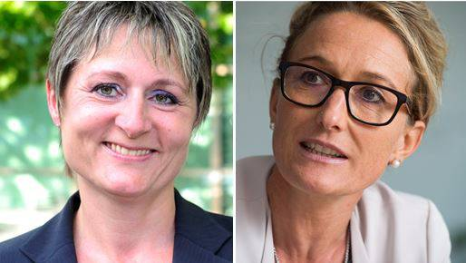 Franziska Roth (links), Susanne Hochuli (rechts)