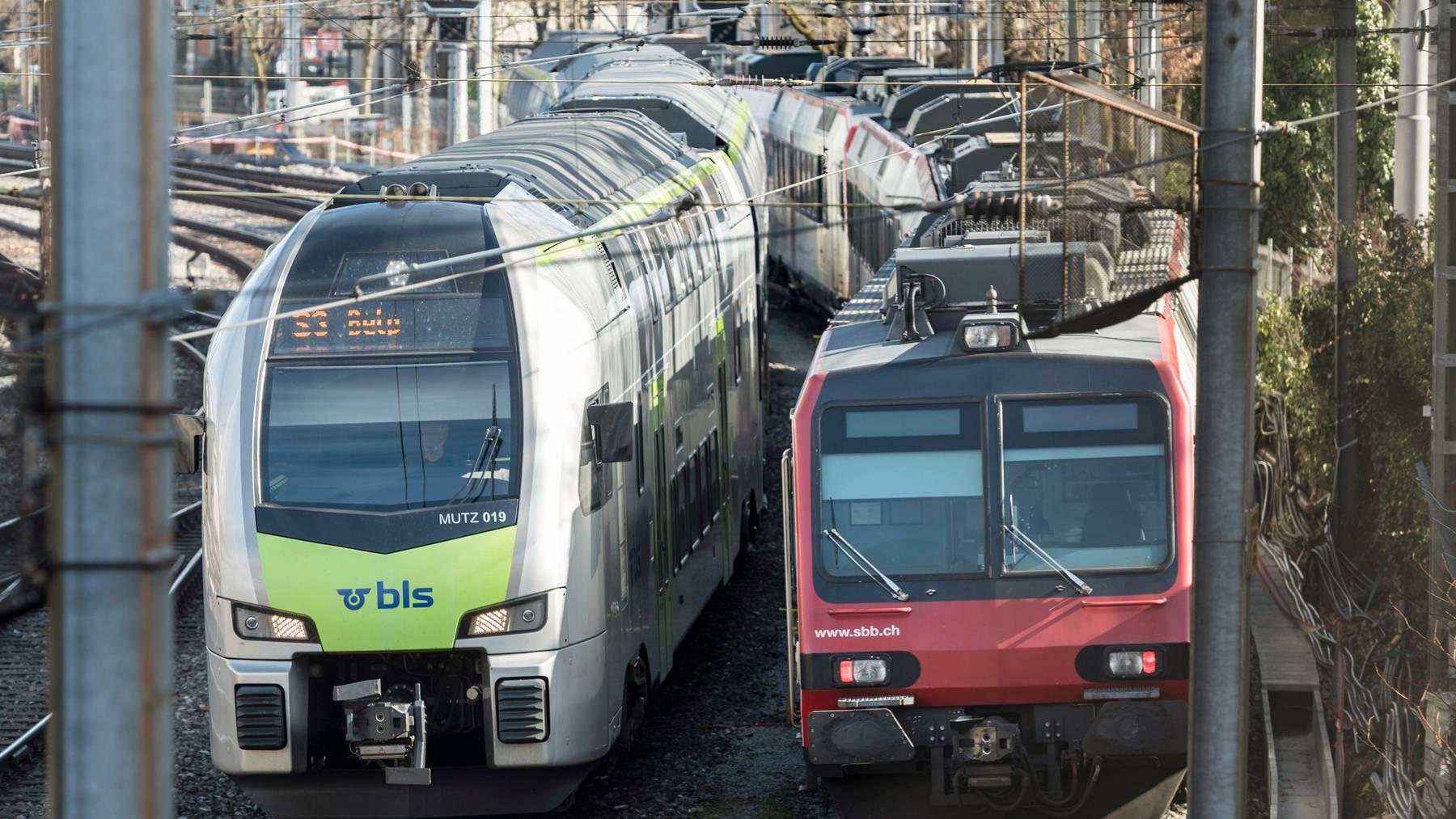 Bleiben bis auf Weiteres Konkurrenten: BLS und SBB erhalten vom Bundesrat je eine neue Konzession.
