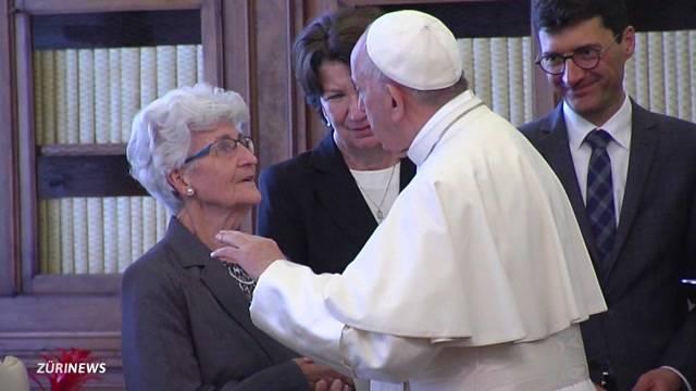 Doris Leuthards Mutter: So war der Besuch beim Papst