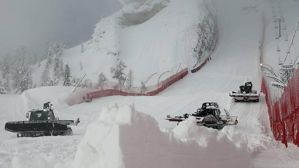 Das Wetter sorgt in Cortina d'Ampezzo für zwei Verschiebungen