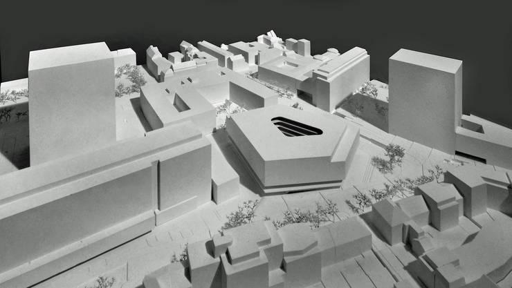 Der fünfeckige Neubau soll bis 2020 fertiggestellt werden.