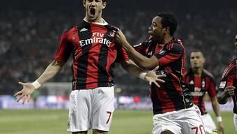 Milans Matchwinner Pato (l.) traf bereits nach 42 Sekunden ins Tor