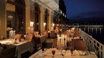 Das Restaurant «Cheval Blanc» im Les Trois Rois in Basel: Wiederum das beste Lokal der Region, wenn es nach dem Gault Millau geht.