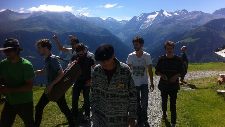 Bergluft: Die Band Pamplona Grup am «Fiasta da Groma» – sprich Alprahmfestival.