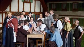 Szene aus dem Freilichtspiel «Brönz» im Jahr 2012.