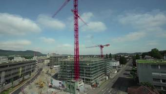 Zeitraffer-Video: Das «GastroSocial»-Hochhaus in Aarau wächst und wächst.