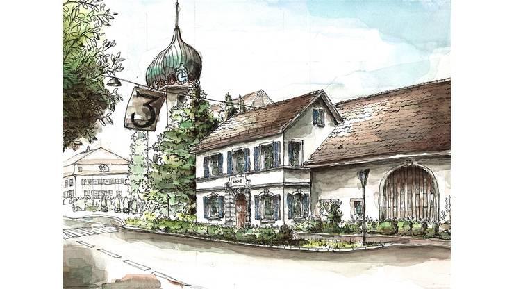 Die «Arche» in Bad Zurzach aus einem früheren Kalender.