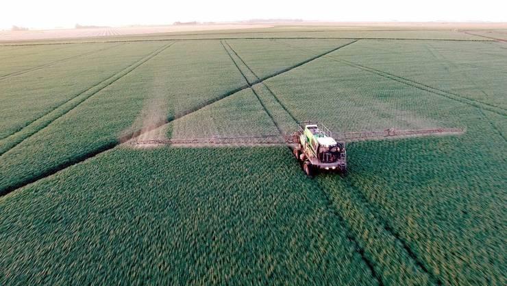 Die Verwendung von glyphosathaltigen Unkrautvernichtern – im Bild ein Bauer in Argentinien der «Roundup» anwendet – gerät zunehmend unter Druck.