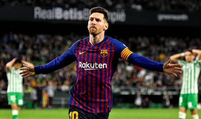 Lionel Messi schiesst Betis ab