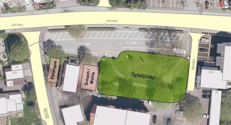 So sieht der Projekt für den neuen Spielplatz im Zentrum von Oensingen aus.