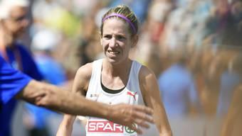 Martina Strähl wurde an der Leichtathletik-EM im Matathon Siebte.