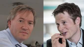 Facebook-Diskussion: Gregor Biffiger (SVP) und Jonas Fricker (Grüne).