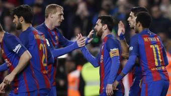 Captain Lionel Messi rettete Barcelona vor einem weiteren Rückschlag