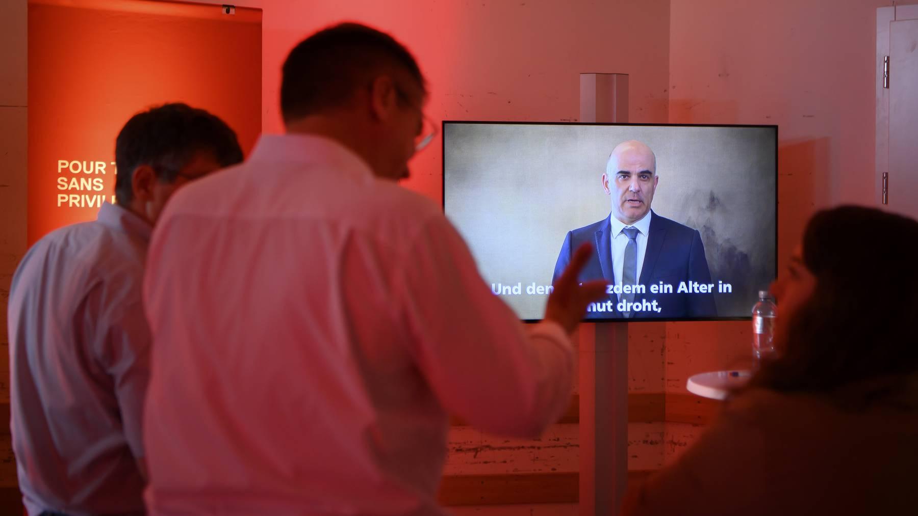 An der Online-Delegiertenversammlung meldete sich auch Bundesrat Alain Berset zu Wort.