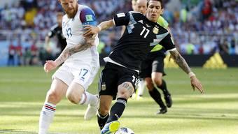 Angel Di Maria (rechts), hier in einem Match mit Argentinien, traf für Paris Sait-Germain zweimal