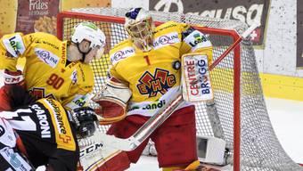 Der Bieler Keeper Jonas Hiller zeigte in Spiel 5 gegen Bern eine herausragende Leistung und feierte den ersten Shutout seit Januar