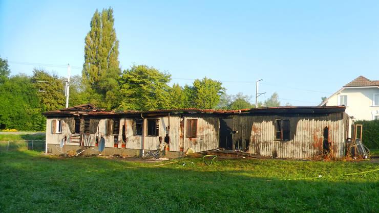 Die Asylunterkunft wird abgerissen.