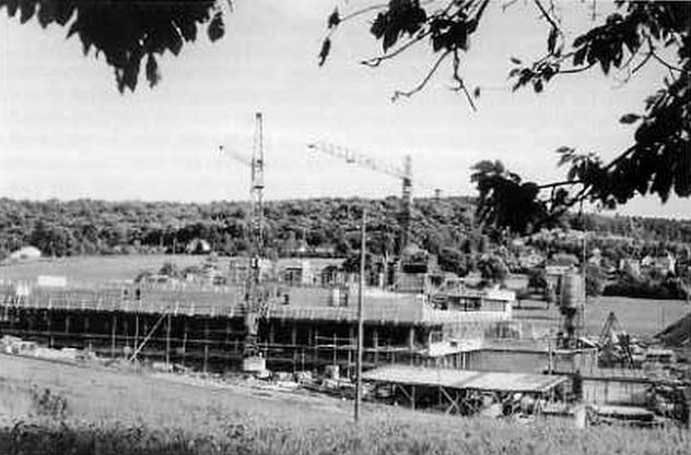 Das Spital Limmattal während seiner Bauzeit