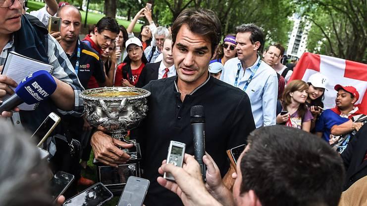 29. Januar 2017: Die längste Durststrecke Federers endet am Australian Open mit dem 89. Titel.
