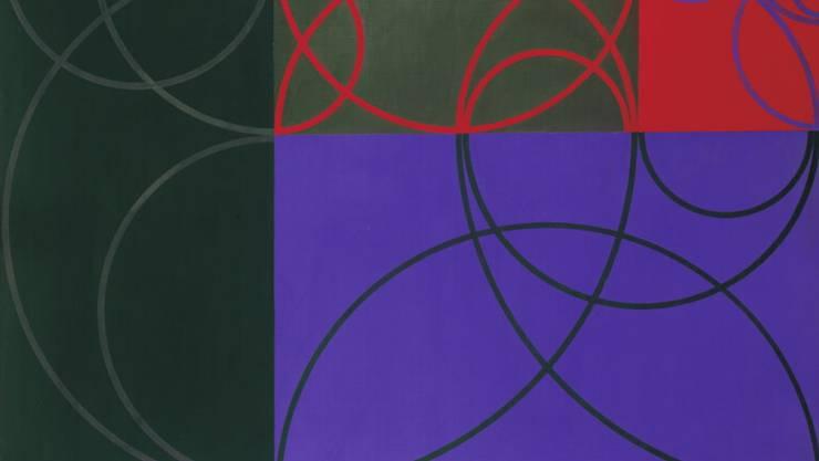 """Das Ölgemälde """"magische chromographie"""" (1944/1946) von Max Bill ist bis 2. Februar 2020 im Konstruktiven Kabinett des Kunst Museums Winterthur ausgestellt."""