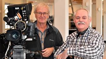 Werner Baumann (links) und Ruedi Wiedmer sind passionierte Fernsehleute.