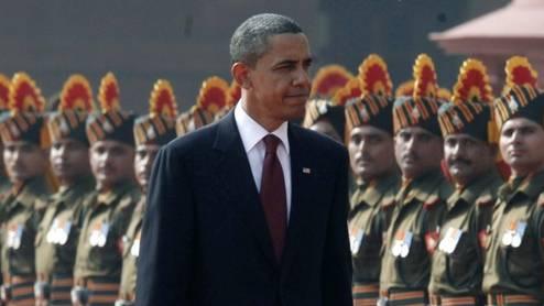 US-Präsident Obama wird in Neu Delhi von der Ehrengarde empfangen