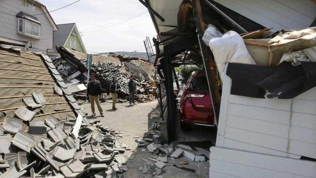 Die beiden Erdbeben auf der südjapanischen Insel Kyushu nahe der Stadt Kumamoto richteten mit 25 Milliarden Dollar die höchsten Schäden an. (Archivbild)