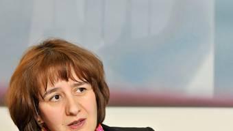 Jasmin Staiblin, ABB Schweiz Chefin, spricht waehrend des Interviews in ihrem Buero in Baden, 18. Februar 2010.