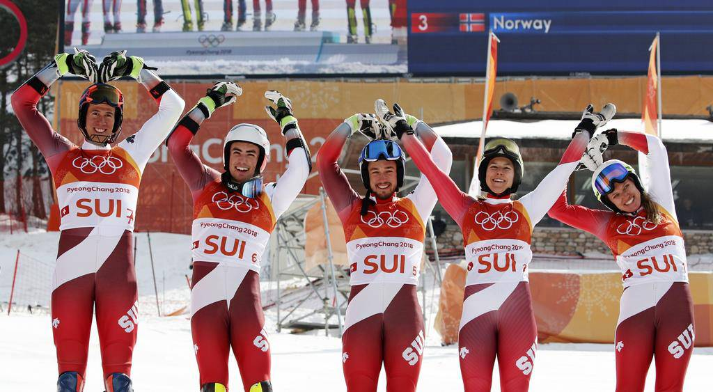 Ski Alpin Team Event (© Keystone)