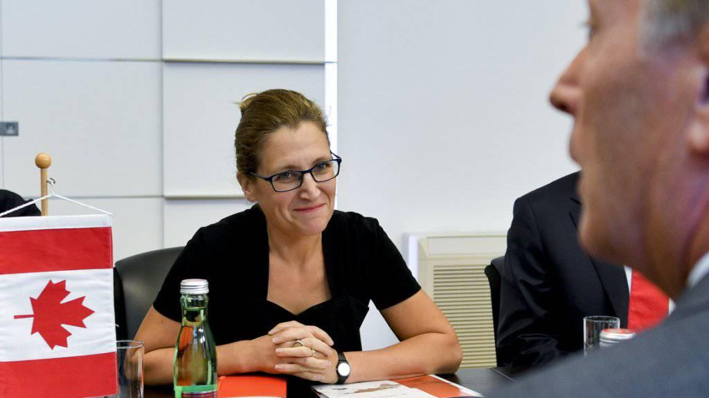 Die kanadische Handelsministerin Chrystia Freeland hat am Freitagnachmittag das Scheitern der Gespräche mit der belgischen Region Wallonien zum Freihandelsabkommen EU-Kanada (Ceta) verkündet. (Archiv)