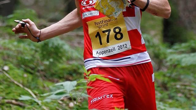 Fabian Hertner im WM-Selektionsrennen.Photopress/Wey