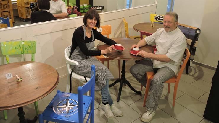 Klingnau erhält wieder ein Café: Karin und Markus Gfeller erweitern mit der Wiedereröffnung ihr Angebot.