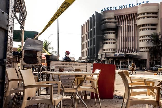 Die Terrasse des Restaurants Cappuccino