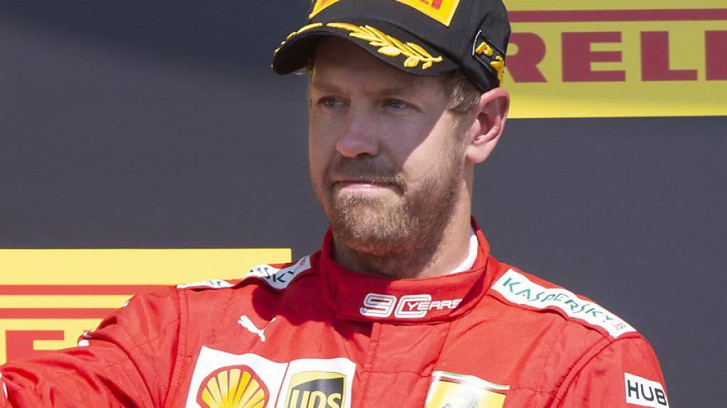 Den Frust und Ärger konnte und wollte Sebastian Vettel auch bei der Siegerehrung nicht verheimlichen