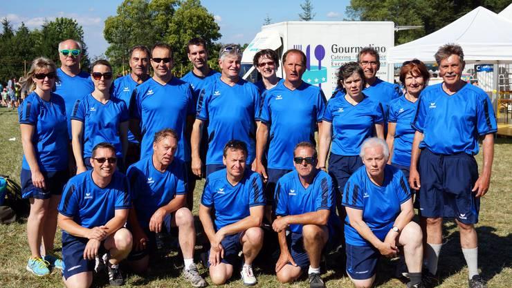 Die 18 Teilnehmer am 3teiligen  Vereinswettkampf
