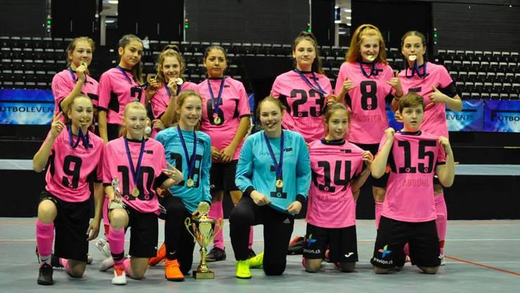 Die U15-Juniorinnen des FC Aarau werden Vize-Schweizermeister.