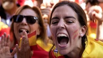 Teilnehmerinnen einer Demonstration in Barcelona.