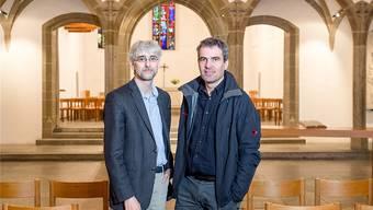 Sie beraten all jene, die ehrenamtlich oder beruflich für die reformierte Kirchearbeiten: David Reichart (links) und David Lentzsch. Sandra Ardizzone