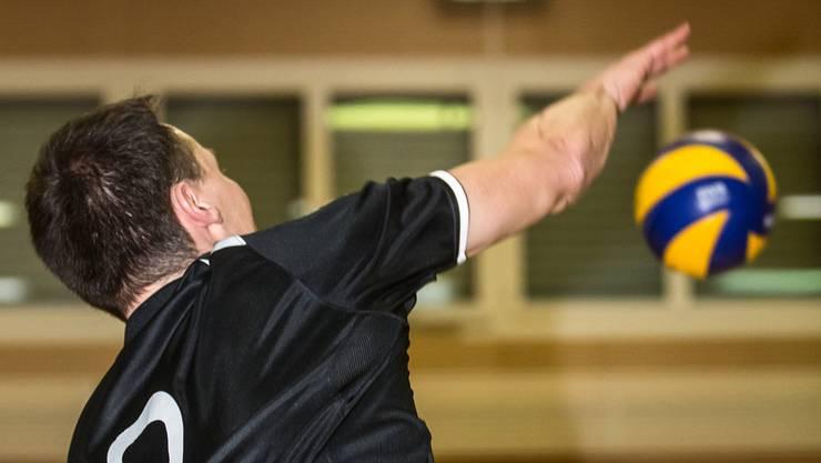 Didier Perret beweist seine grosse Sprungkraft. Roland Jauss
