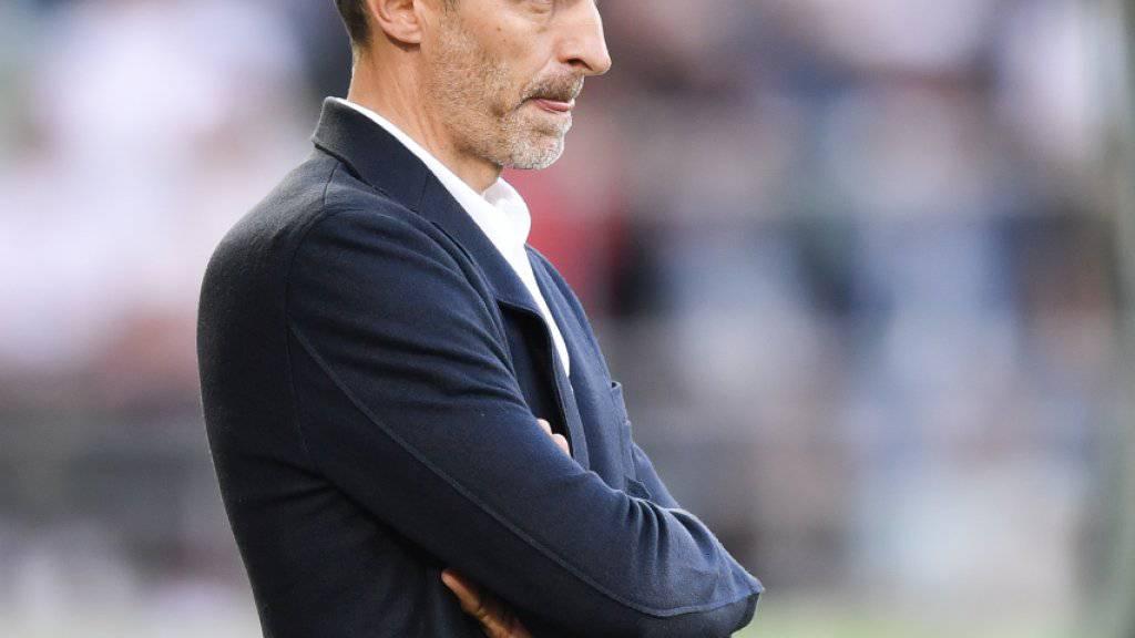 Luzerns Trainer Thomas Häberli kann in Lugano weitere Argumente für eine Weiterbeschäftigung liefern