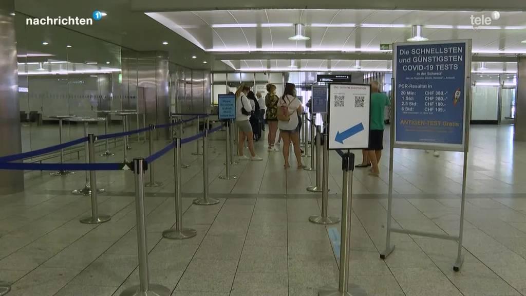 Ferienstart + Testpflicht = Hochbetrieb am Flughafen Zürich