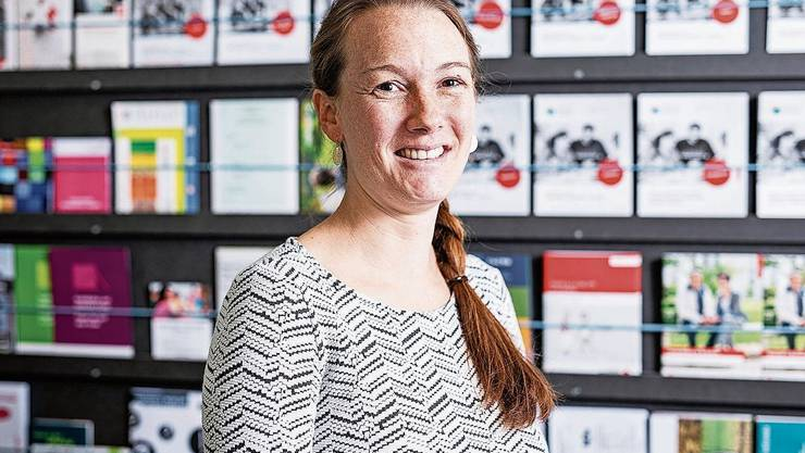 Sarah Groth arbeitet seit Juni im neuen KRSD-Büro in Kleindöttingen.