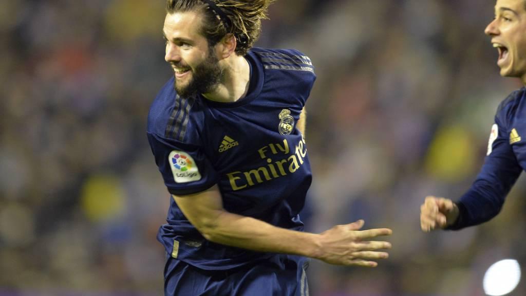 Ein seltenes Bild: Nacho jubelt als Torschütze von Real Madrid