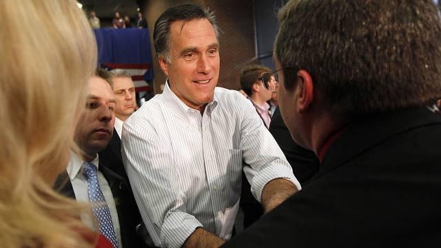 Mitt Romney nimmt Gratulationen entgegen (Archiv)