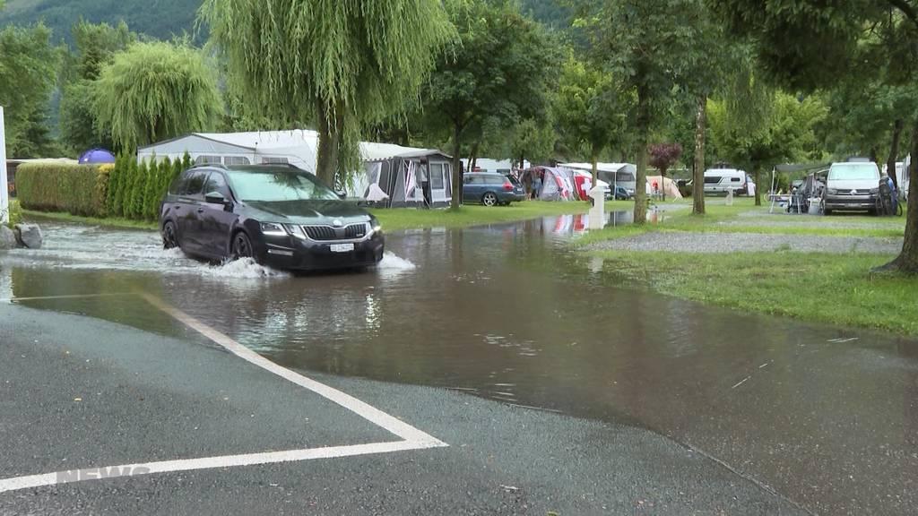 Campingplätze an Seeufern sind besorgt wegen drohendem Hochwasser