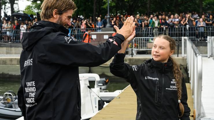 Boris Herrmann und Greta Thunberg sind ein eingespieltes Team – an Land, auf dem Boot und im Kampf gegen den Klimawandel.