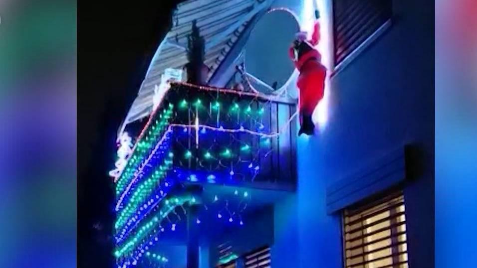 Knatsch um blinkende Weihnachtsdekoration